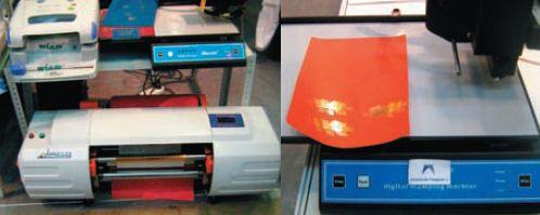 С помощью цифрового тиснения можно облагородить обложки для фотокниг и книг по требованию, карты, пригласительные билеты и множество других видов продукции