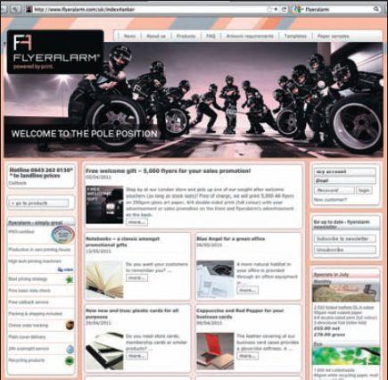 Flyeralarm: корпоративный сайт для заказа полиграфической продукции