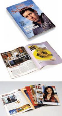 Стандартные примеры продукции с шитьём. Фото: Muller Martini