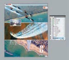 Страница из журнала Israel Defense с показанными слоями и поименованными интерактивными элементами в InDesign