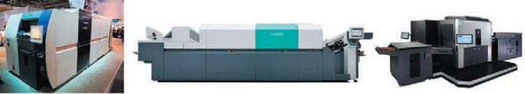 В конкуренцию с уже неплохо раскрученными струйными ЦПМ B2 от Screen и Fujifilm в начале 2013 г. вступит серьёзный соперник — машина аналогичного формата HP Indigo. Заказы на неё уже принимаются (Предоставлено  Screen, Fujifilm, НР)