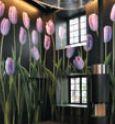 Обои с тюльпанами, изготовленные для оформления швейцарского ресторана на материале Erfurt WB wallpaper CA, удостоились награды на выставке Fespa-2010 в Мюнхене
