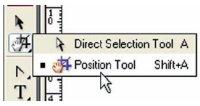 Position Tool — вариант инструмента Белая стрелка, работающая как с размером фрейма, так и с его содержимым