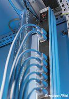 Рисунок 1. На Cebit 2009 компания Rittal представила свои активные модули для систем управления питанием, позволяющие осуществлять замер потребления энергии отдельными устройствами.