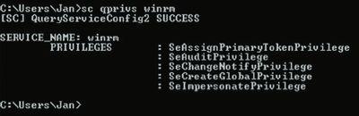 Проверка необходимых прав для службы WinRM