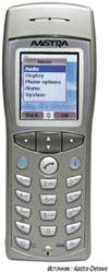 Рисунок 2. VoWLAN постепенно получает признание и в таких цитаделях DECT, как Германия: Aastra Phone 312 поддерживает беспроводную связь на основе стандартов 802.11b/g с доступом к серверам SIP Proxy или к SIP–совместимым телефонным станциям.
