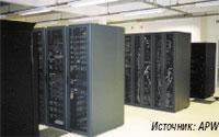 Рисунок 1. Обратная сторона открытой стойки, предназначенной для установки коммутационных панелей СКС.