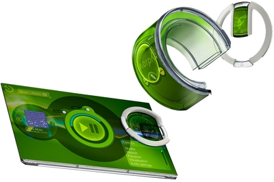 Концепт-фон Morph фирмы Nokia выполнен из гибких материалов, его можно сворачивать как браслет для ношения на запястье, а потом придавать обычную форму. Ориентировочное время выпуска – через 7 – 15 лет.