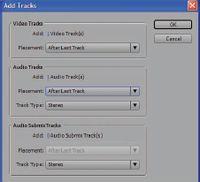 Рис.3. Панель Add Tracks