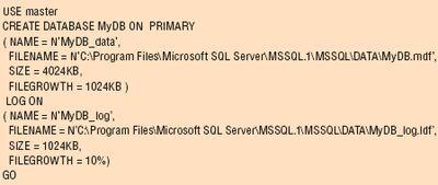 Листинг 1.Запрос MyDB.sql