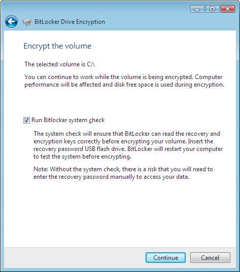 Экран 6. Страница Encrypt the selected disk volume