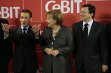 Для Жозе Мануэля Баррозу, Николя Саркози и Ангелы Меркель, как показали их выступления на открытии выставки CeBIT, важнее экономика, чем компьютеры