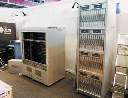 Высокопроизводительный компьютер Sun Constellation создается из компонентов, соответствующих открытым отраслевым стандартам, таких как процессоры вархитектуре x64, лезвийные серверы Sun, система хранения Sun Fire x4500 исвободно распространяемые операционные системы Solaris или Linux