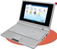 Этот малыш оснащен 7-дюймовым экраном с разрешением 800в480 точек, 4-Гбайт флЭш-накопителем (вместо привычного жесткого диска), процессором Intel Celeron и 512-Мбайт ОЗУ