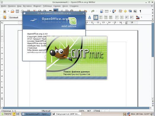 Для этого дистрибутива были специально доработаны такие популярные программы, как OpenOffice и QIMP