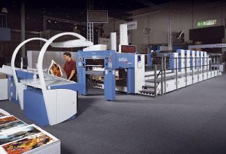 KBA Rapida 105 Universal с 6-ю печатными секциями, удлинённой приёмкой и опциями гибридной отделки— гибкий инструмент для послепечатной обработки в линию (Фото: KBA)