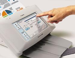 Все операции по управлению сканером врабочем режиме осуществляются посредством сенсорного ЖК-дисплея