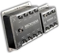 Рисунок 6. Новые коммутаторы Microsens с классом защиты IP67 оснащены пятью или восемью портами Fast Ethernet (10/100BaseTX) с соединителями M12, специально разработанными для приложений Industrial Ethernet. Они монтируются на стене или на рейке DIN, питаются от постоянного тока 10-30 В.