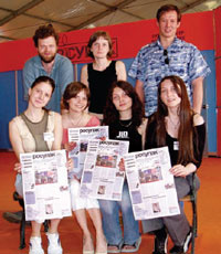 В сотрудничестве с организаторами — холдингом MVK — редакция Publish подготовила три выпуска официальной газеты выставки. Они вышли 20, 21 и 23 июня общим тиражом 30 000 экз. На снимке — наша команда