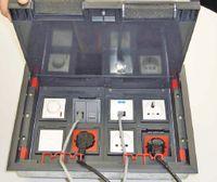 Рисунок 12. Одна из новинок компании «Экопласт» — люк на восемь розеток 45х45 мм или на 16 модулей 45х22,5 мм и антивандальные люки, выдерживающие большую нагрузку. Каждый из них монтируется в посадочную коробку нужных размеров, установленную в фальшполу или заливаемую в бетон. Люки изготавливаются из стали и нейлона и имеют степень защиты IP40 или IP42.