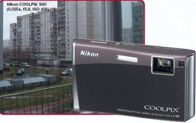 Nikon Сенсорное управление, Объектив с 5-кратным увеличением, Высокий уровень шума при съемке