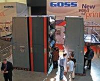 Красочные иувлажняющие аппараты Goss FPS смонтированы вотдельные модули, которые могут отводиться понаправляющим отпечатного блока