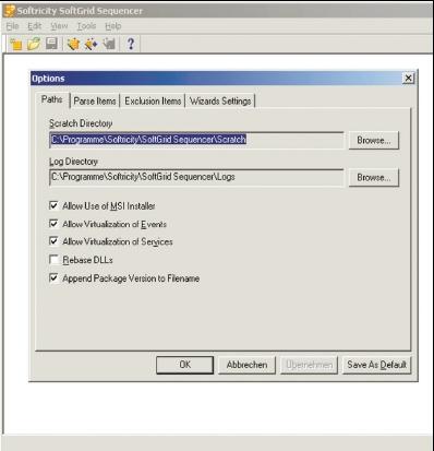 Рисунок 2. SoftGrid Sequencer обеспечивает создание пакетов для потокового предоставления приложений.