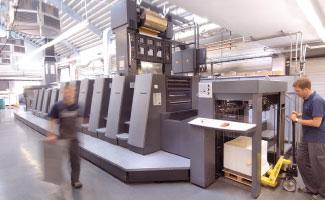 В работе 6-красочный Speedmaster CD 74 с двумя секциями лакирования, УФ-сушкой и модулем FoilStar (Фото: Heidelberg)