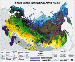 Карта наземных экосистем Северной Евразии