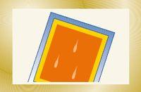 Рис. 7. Полосы могут появляться в результате наличия в эмульсии воздушных пузырьков