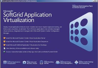 Рисунок 1. Microsoft SoftGrid заменяет локальную установку приложений их потоковой передачей с сервера SoftGrid аналогично видеопотоку.
