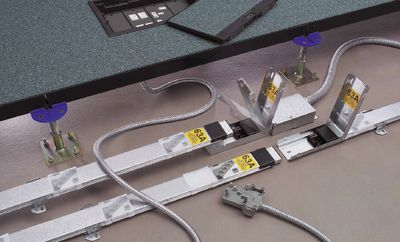 Рисунок 6. Пример шинопровода, установленного под фальшполом.
