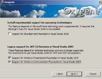 Окно установки пакета Oxygene 3.0 для Windows