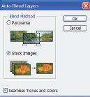 Рис.8. Auto-Blend Layers