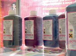 Bordeaux производит более 100 видов чернил: от водных до УФ-отверждаемых