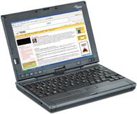 Fujitsu Siemens LifeBook P1610 имеет массу чуть больше 800 г