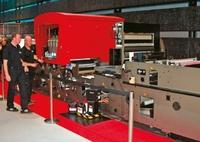 Стенд Agfa. :Dotrix Modular запечатывает гибкие упаковочные материалы: бумагу, фольгу, PE, PVC и др.