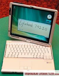 Опционально LifeBook T4220 оснащается модулем UMTS со считывателем SIM-карт