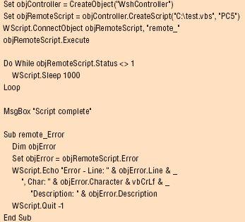 WSH remote scripting (VBScript)