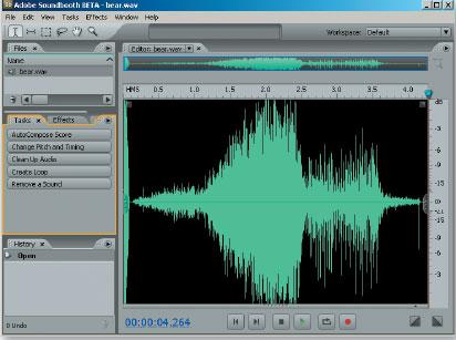 Рис. 1. Интерфейс программы Adobe Soundbooth CS3