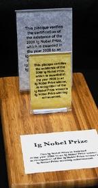 Вручение Шнобелевских премий 2008 года проходило вГарварде взале Сандерсовского театра