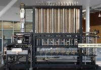 В Лондонском музее науки имеется единственный экземпляр калькулятора; он выполнен по оригинальным чертежам Чарльза Бэббиджа, имеет 8 тыс. бронзовых деталей, множество стальных и металлических элементов и весит около 3 тонн