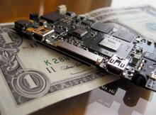 Миниатюрная материнская плата, разработанная компанией VIA, Mobile ITX, обладает размерами всего 7,5х4,5 см, что является минимумом при использовании доступных на сегодня компонентов