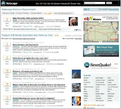 Когда Netscape.com перейдет ксвоему «новому старому» формату портала, сайт «социальных новостей» AOL разместит эту информацию на другом, пока еще не определенном адресе, говорится всообщении на блоге