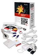 В комплект поставки Secret Disk Server, помимо программного обеспечения и двух ключей eToken, входит аварийная кнопка и устройство для подачи сигнала тревоги по радио