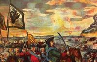 Рис. 1. Мозаика М.В. Ломоносова «Полтавская битва»