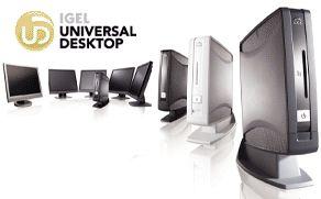Igel анонсировала пять аппаратных платформ Universal Desktop с разнообразными возможностями, в том числе одну с устройством, встроенным в 19-дюймовый жидкокристаллический монитор