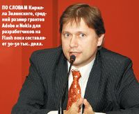 По словам Кирилла Зеленского, средний размер грантов Adobe иNokia для разработчиков на Flash пока составляет 30-50 тыс. долл.