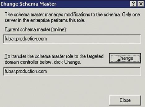 Экран 1. Идентификация мастера схемы AD.