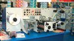 Стенд Focus Label Machinery. В числе устанавливаемых на перемоточно-резальную машину RT 250 опций — модуль струйной печати